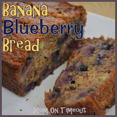 Banana Blueberry Bread - Blueberry Muffins meet Banana Bread and they are so happy together!
