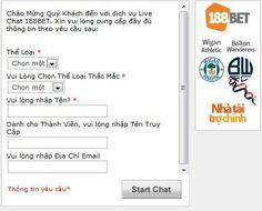 Hướng dẫn chat với Bet188 để hỏi về thông tin tài khoản, cách đăng ký 188Bet, cách gửi tiền, rút tiền, LINK vào, cách chơi kèo, chơi cá độ bóng đá & Casino tại nhà cái 188Bet Việt Nam .