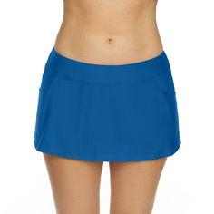 Splashletics Swim Skirt Swim Skirt, Swim Dress, Spandex Fabric, Skort, Gym Shorts Womens, Swimming, Swimwear, Blue, Clothes