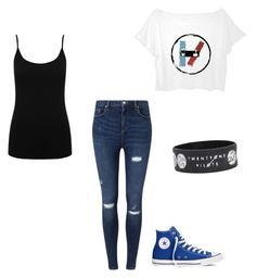 twenty one pilots by jayraywolf on Polyvore featuring polyvore fashion style M&Co Miss Selfridge Converse clothing