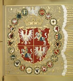 Chorągiew królewska z czasów Zygmunta Augusta miltsry banner ca 1660 Monument In India, Poland Ww2, Poland History, Super Pictures, Medieval Shields, Ancient Names, Castle Painting, Nautical Flags, Flag Patches