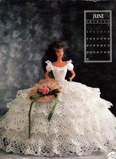 Miss June 1991, Annies Attic , Calendar Bed Doll Society, 1991 Collectors…
