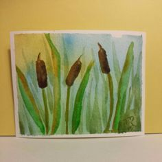 Cattails Watercolor