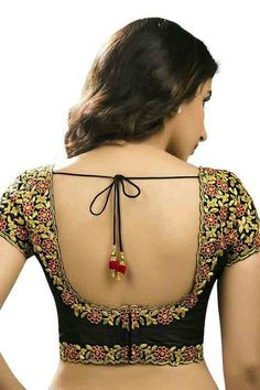 Must check out the new styles of Indian saree blouse designs front and back styles. All of these saree blouse designs are full of attractive colors. Brocade Blouse Designs, Brocade Blouses, Saree Blouse Neck Designs, Fancy Blouse Designs, Designer Blouse Patterns, Gharara Designs, Blouse Models, Saree Models, Designer Wear