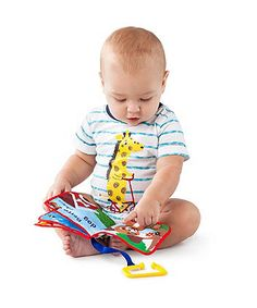 Whether at home or on-the-go your little one will be entertained with this soft book!