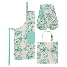 Florence Broadhurst - Egrets Jade Kitchen in a Bag Set 3pce $39.00