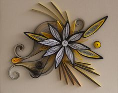 neli: Quilling card- black and orange