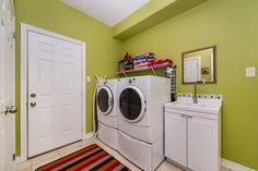Colour is important, even in Laundry Rooms!!