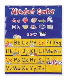 Look at this #zulilyfind! Alphabet Center Pocket Chart by Learning Resources #zulilyfinds