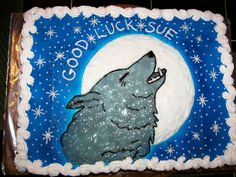 Another Wolf Cake Idea. Cute!