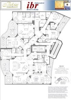 hotel floor plan 4 Bedroom Bathroom Penthouse with Study, Library, Family Room and Breakfast Area (FYI-link no longer working) House Layout Plans, Floor Plan Layout, House Layouts, Country House Plans, Dream House Plans, House Floor Plans, Home Building Design, Building Plans, Hotel Floor Plan