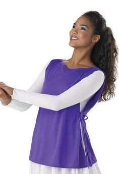 #Dancewear Solutions - #Spiritual Expressions Tunic with Side Ties - AdoreWe.com
