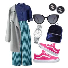 """""""lookday"""" by andreolam on Polyvore featuring Fendi, Vans, Boohoo, Chanel and Longines"""