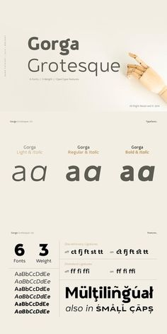 Gorga Grotesque Typeface Sans Serif, Display Folder, Scottish Gaelic, Small Caps, Bold Italic, Working On It, New Fonts, Typography, Touch