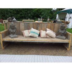 Deze prachtige loungeset past - Bank terras hout ...