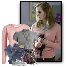harry potter and the deathly hallows part 1 hermione Granger Harry Potter Mode, Harry Potter Style, Harry Potter Outfits, Harry Potter Kleidung, Harry Porter, Movie Inspired Outfits, Ralph Lauren, Fandom Fashion, Fandom Outfits