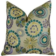 Plutus Violet Electron Handmade Throw Pillow, Multicolor