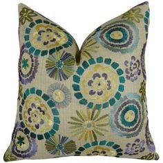Plutus Violet Electron Handmade Throw Pillow, Multicolor