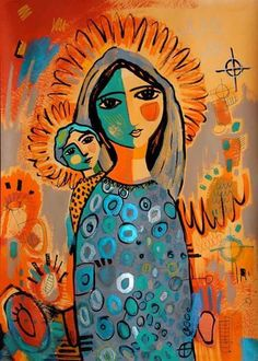 Virgen Christian Images, Christian Art, Religious Icons, Religious Art, Images Of Mary, Blessed Mother Mary, Madonna And Child, Catholic Art, Mexican Folk Art