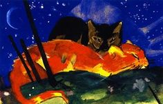 two cats - (Franz Marc)