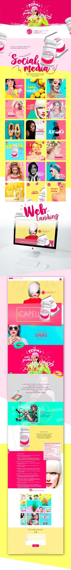 Capell Skin Hair and Nails - Social media & Design on Behance #socialmedia