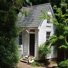 Did it Their Way yep, he designed and built the garden shed, too.yep, he designed and built the garden shed, too. Backyard Sheds, Outdoor Sheds, Garden Buildings, Garden Structures, Cottage Garden Sheds, Cottage Gardens, Tiny House, Colonial Garden, She Sheds