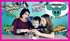 Surprise Toys From Mr. Moose!! | Shopkins, Little Live Pets, Wild Pets