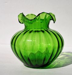 Vintage Glass Vase 1940's Beacon Glass Hand Blown by FabsAndFaves, $27.00