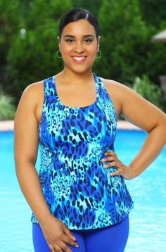 68a36271bcc48 Always For Me Sport Racer Back Tankini Plus Size Tankini