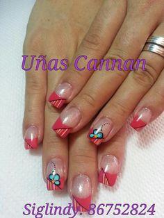 Uñas Creative Nail Designs, Short Nail Designs, Beautiful Nail Designs, Creative Nails, Nail Art Designs, Fabulous Nails, Gorgeous Nails, Pretty Nails, Get Nails