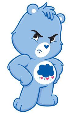 "I got ""Grumpy Bear""! Care Bears, Care Bear Tattoos, Teddy Bear Tattoos, Grumpy Care Bear, Bear Gif, Bear Character, Main Character, Bear Images, Pierrot"