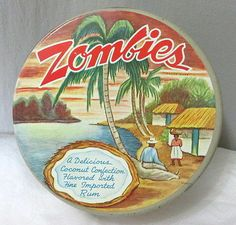 Zombies vintage advertising tin Coconut Rum Cookies $24.97 free shipping. Global shipping options available. eBay seller ID findersofkeepers