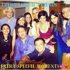 Am sharing my #specialfriends #specialmemories #magicmoments #celebrations with you! Friends make the world go round !!!✨❤️ #nishajamvwal ♫ Lata Mangeshkar