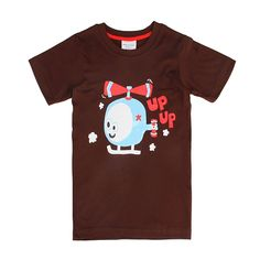 Sale 20% (5.99$) - 2015 New Lovely Helicopter Baby Children Boy Pure Cotton Short Sleeve T-shirt Top