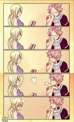 Natsu and Lucy= Nalu from fairy tail - anime Natsu Fairy Tail, Fairy Tail Gray, Fairy Tail Meredy, Fairy Tail Loki, Art Fairy Tail, Fairy Tail Amour, Image Fairy Tail, Fairy Tale Anime, Fairy Tail Comics