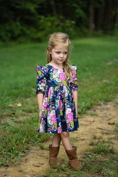 Helena's Button Back Top & Dress. PDF sewing pattern toddler girl sizes 2t-12 - Simple Life Company