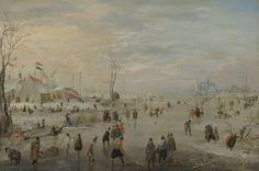 IJsvermaak, Hendrick Avercamp, 1615