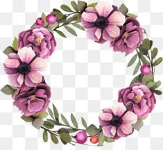 Free download Floral design Wreath Flower Garland Purple - Purple flower wreath png : 1508*1358 and 2.36 MB.