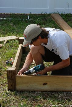 How to build a raised garden bed. Definitely going to put these in this summer for the vegetable garden!