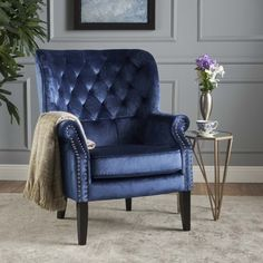 Noble House New Velvet Club Chair,Cobalt, Blue White Dining Chairs, Accent Chairs For Living Room, Formal Living Rooms, Patio Chairs, My Living Room, Adirondack Chairs, Eames Chairs, Office Chairs, Dining Room