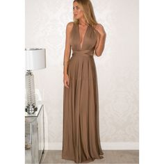 Sexy Sleeveless Multi Wear Long Dress