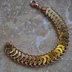 Copper and Brass Washer Bracelet @keyla