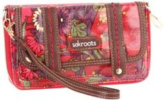 The SAK Roots Convertible Flap Wallet,Scarlet Flower Power,One Size The SAK. $45.00