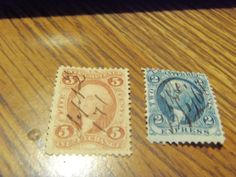 GREAT COMBO-1862 BOBS #13C &27C-USED, FINE