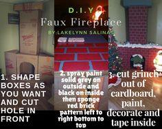 #Fauxfireplace #cardboard #christmas #diy #thegrinch #lakelynnsalinas