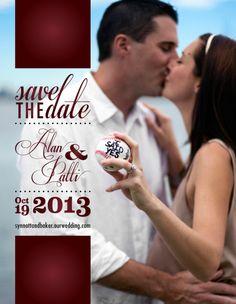 Invitation Design | Save the Date | Baseball themed