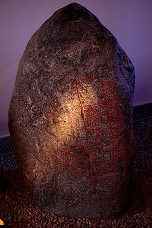 The Snoldelev stone, one of the oldest runestones in Denmark