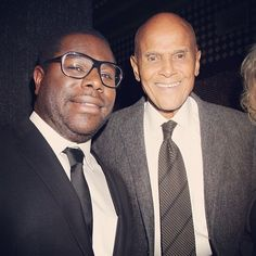 | INSTAGRAM | #12YearsASlave director Steve McQueen and living legend Harry Belafonte at the New York Film Critics Circle Awards! #icons
