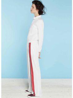 Monoprix printemps-été 2014 - pantalon oversize à rayure.