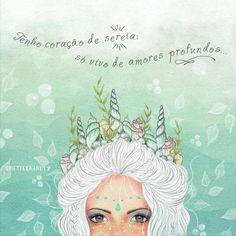 """1,482 curtidas, 63 comentários - Fernanda Fernandez (@mftfernandez) no Instagram: """"Amores abissais 🌊 🐚 💙 . #mermaid#illustration#art#sereia"""""""